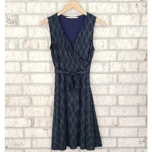 41 Hawthorn Jersey Sleeveless Faux Wrap Dress